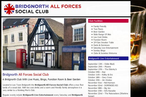 All Forces Social Club Bridgnorth