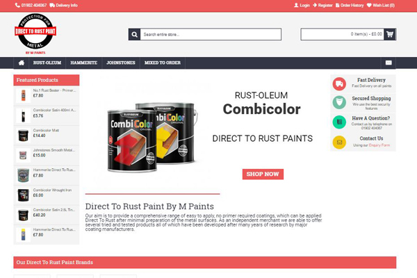 direct to rust paints