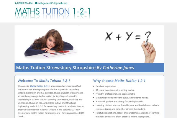 Maths Tutor Shrewsbury