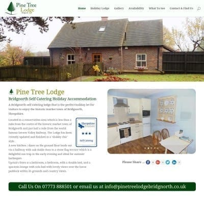 Pine Tree Lodge Holiday Let Bridgnorth