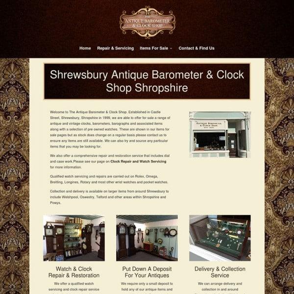 Shrewsbury Clock Shop Shropshire