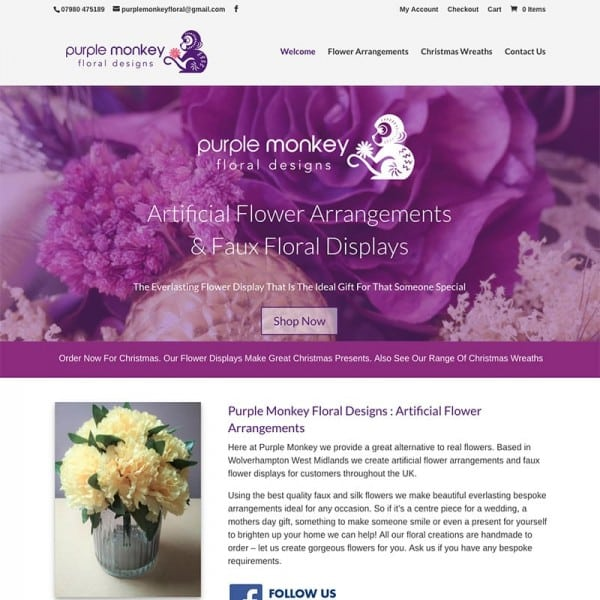Purple Monkey Floral Arrangements