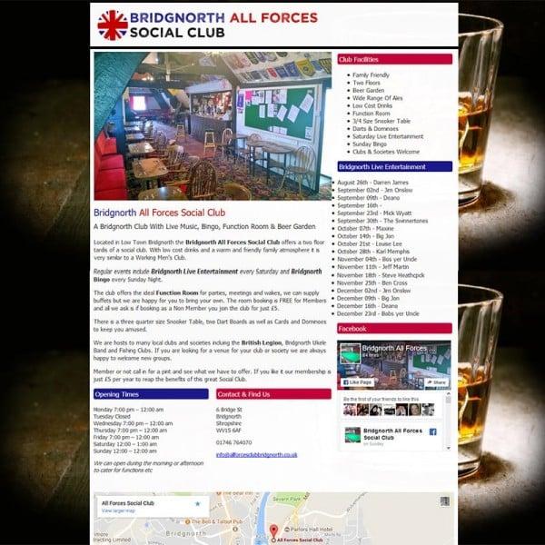 all forces club bridgnorth