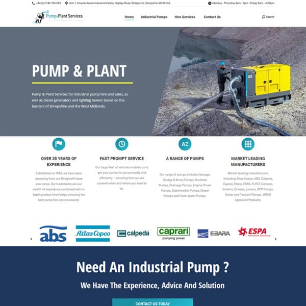 pump and plant